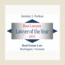 Best Lawyers Lawyer of the Year Badge for Jeremy Farkas for Real Estate Law